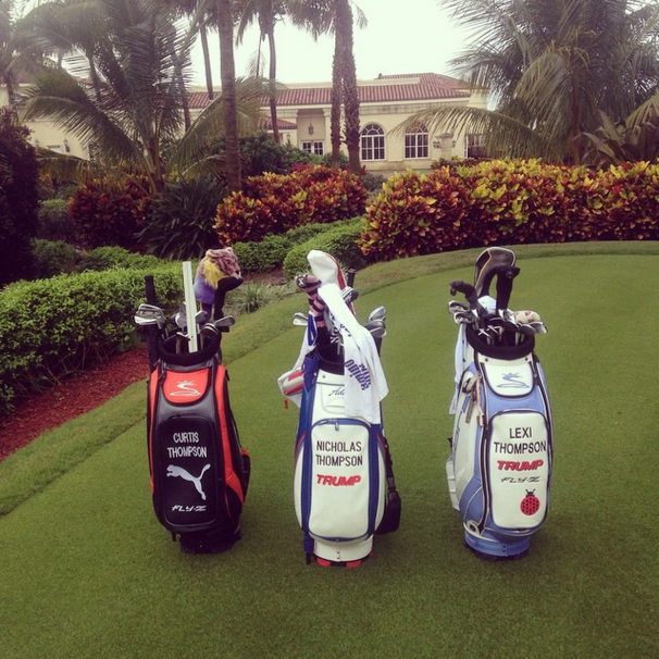 Lexi Thompson played with her brothers Curtis and Nicholas.