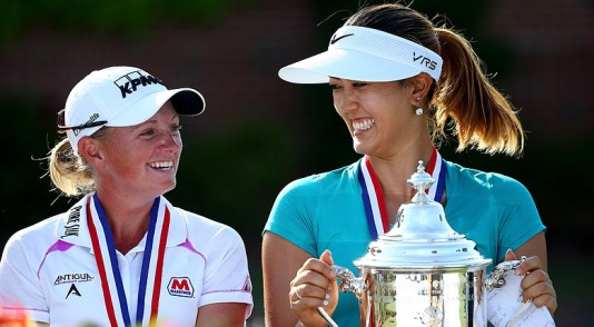 Michelle Wie and Stacy Lewis