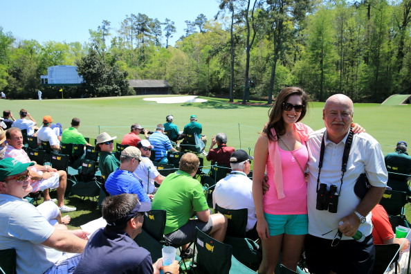Sandra Gal and her father Jan at the 2014 Masters Tournament. (Photo by David Cannon/Getty Images)