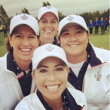 Captain INKSTER....Assistant Captain PAT HURST and WENDY WARD!!! So honored to play on this team! #countdowntoSolheim #USA #solheimcup #goteamusa 🇺🇸🇺🇸